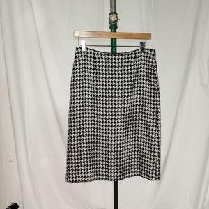 MAXMARA Houndstooth Wool Skirt